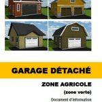 Garage détaché zone agricole (RID-9)